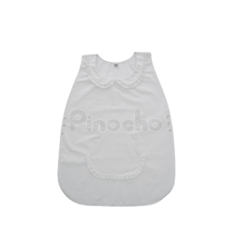 Poncho Blanco Broderie con Broches