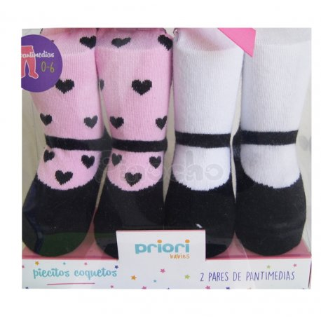 Set Medias x 2 Can Can 0-6 meses